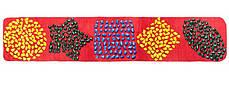 Массажный коврик с цветными камнями детский развивающий 200х40 см, фото 3
