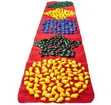 Масажний килимок з кольоровими каменями дитячий розвиваючий 200х40 см