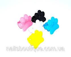 Палитра для красок на палец пластиковая , черная