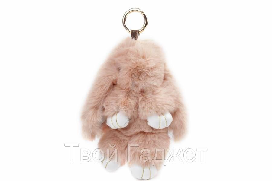 Брелок кролик из искусственного меха