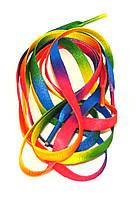 Шнурки плоские Радуга синтетические 100см