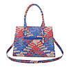 Женская сумка хенхелд из плетеной экокожи (Европа) Красный\Синий, фото 3