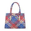 Женская сумка хенхелд из плетеной экокожи (Европа) Красный\Синий, фото 2
