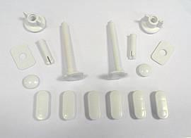 Крепления для крышки унитаза пластик