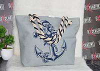 Женская тканевая пляжная сумка Море