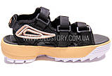 Женские черные спортивные босоножки фила, фото 2