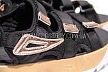 Женские черные спортивные босоножки фила, фото 7