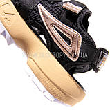 Женские черные спортивные босоножки фила, фото 4