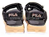 Женские черные спортивные босоножки фила, фото 9