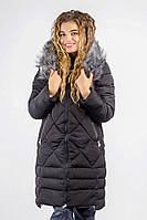 Куртка женская удлиненная, зима  08P058 (Черный)