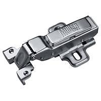 Петля Clip-On, полунакладная, для алюминиевого профиля, с доводчиком, Muller profi line