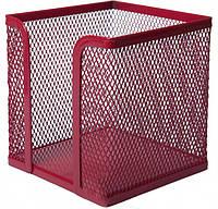 Бокс для бумаги 100х100x100мм, металлический, красный (BM.6215-05)