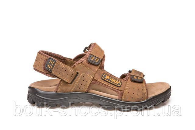 b8cab962949 Мужские кожаные светло-коричневые сандалии Razor 18112