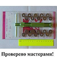 Экструдер винтовой для полимерной глины, мастики, метал, 20 насадок, фото 1
