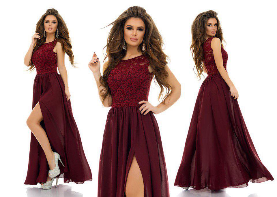 d7253c96f0bbd8f Бордовое вечернее платье в пол - RUSH STORE интернет-магазин женской одежды  в Николаеве