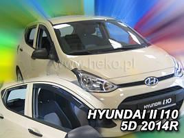 Дефлекторы окон (ветровики)  HYUNDAI i10 5d 2013r (HEKO)