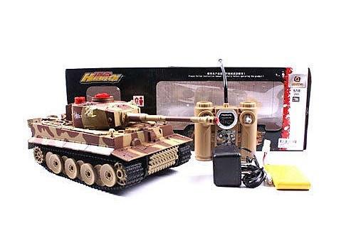 """Боевой танк """"Tiger"""" 518-02 на радиоуправлении + Звуковые и световые эффекты Танки на р/у Интерактивные игрушки"""