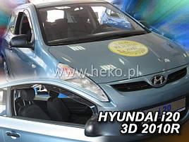 Дефлекторы окон (ветровики)  HYUNDAI i20 - 3D 2010R → 5D 4шт (Heko)