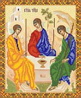 """Схема для вышивки бисером """"Икона святой Троицы""""."""