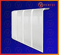 Декоративная  решетка/экран на чугунную батарею 10 секции, 955 мм