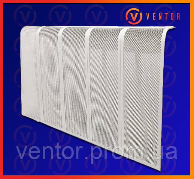 Декоративная  решетка/экран на чугунную батарею 14 секции, 1340 мм