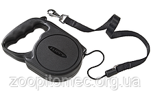Ferplast FLIPPY Regular MEDIUM чорний/червоний Автоматичний поводок-рулетка для собак