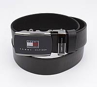 Кожаный ремень автомат мужской Tommy Hilfiger 8006-304 черный, коричневый, синий, фото 1