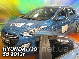 Дефлектори вікон (вітровики) HYUNDAI i30 - 5D 2012-2017r htb(HEKO)