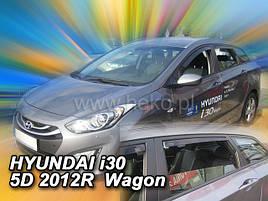 Дефлектори вікон (вітровики) HYUNDAI i30 - 5D .2012-2017r Wagon(HEKO)