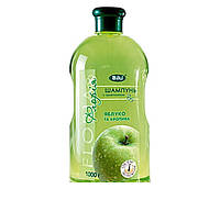 Шампунь Floria Яблуко і кропива з провітаміном В5 для нормального і жирного волосся 1000мл