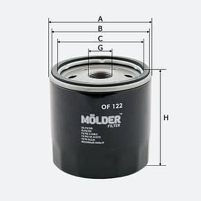 Масляный фильтр Molder OF 122, фото 2