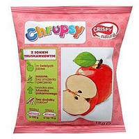 Яблочные чипсы с клубникой CRISPY, 18 гр