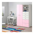 Шкаф / гардероб IKEA STUVA / FRITIDS 120x50x192 см белый розовый 792.764.68, фото 2