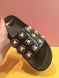 Черные шлепанцы на низкой платформе , копия, фото 2