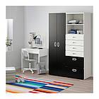 Шкаф / гардероб IKEA STUVA / FRITIDS 120x50x192 см белый черный 192.765.36, фото 2