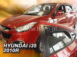 Дефлектори вікон (вітровики) HYUNDAI ix 35 - 5D 2010R →(HEKO)