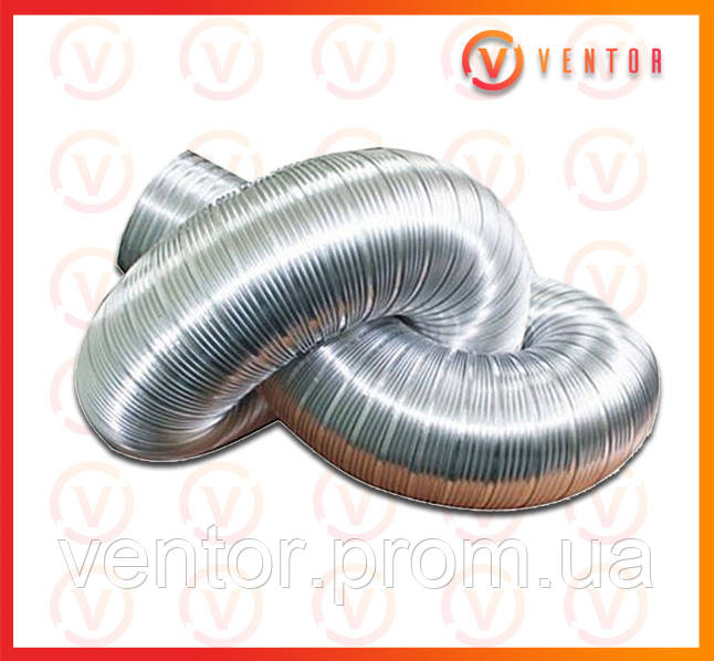 Воздуховод гофрированный алюминиевый ф 90L=3.0 м, 100 мкм