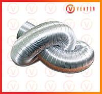 Воздуховод гофрированный алюминиевый ф 100, L=3.0 м, 100 мкм