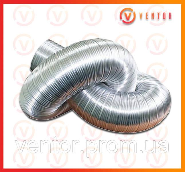 Воздуховод гофрированный алюминиевый ф 200, L=3.0 м, 100 мкм