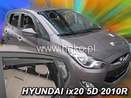 Дефлекторы окон (ветровики)  HYUNDAI ix20 - 5D 2010- (HEKO)