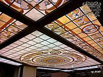 Витражные потолки с подсветкой в холл