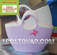 Пластиковая сумка-авоська для пикника, сиреневая