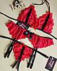 Кружевное эротическое белье комплект: лиф, стринги, пояс для чулок. Размеры от XS до XXL