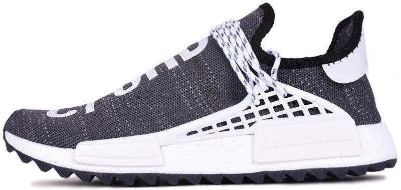 Мужскиекроссовки adidas Pharrell Williams NMD Human Race Grey (Адидас Фарель) серые