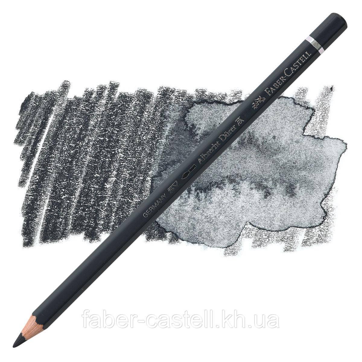 Олівець акварельний кольоровий Faber-Castell Albrecht Дюрера сірий пейн (Paynes Gray) №181, 117681