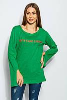 Свитер-туника с принтом 953K001 (Зеленый)