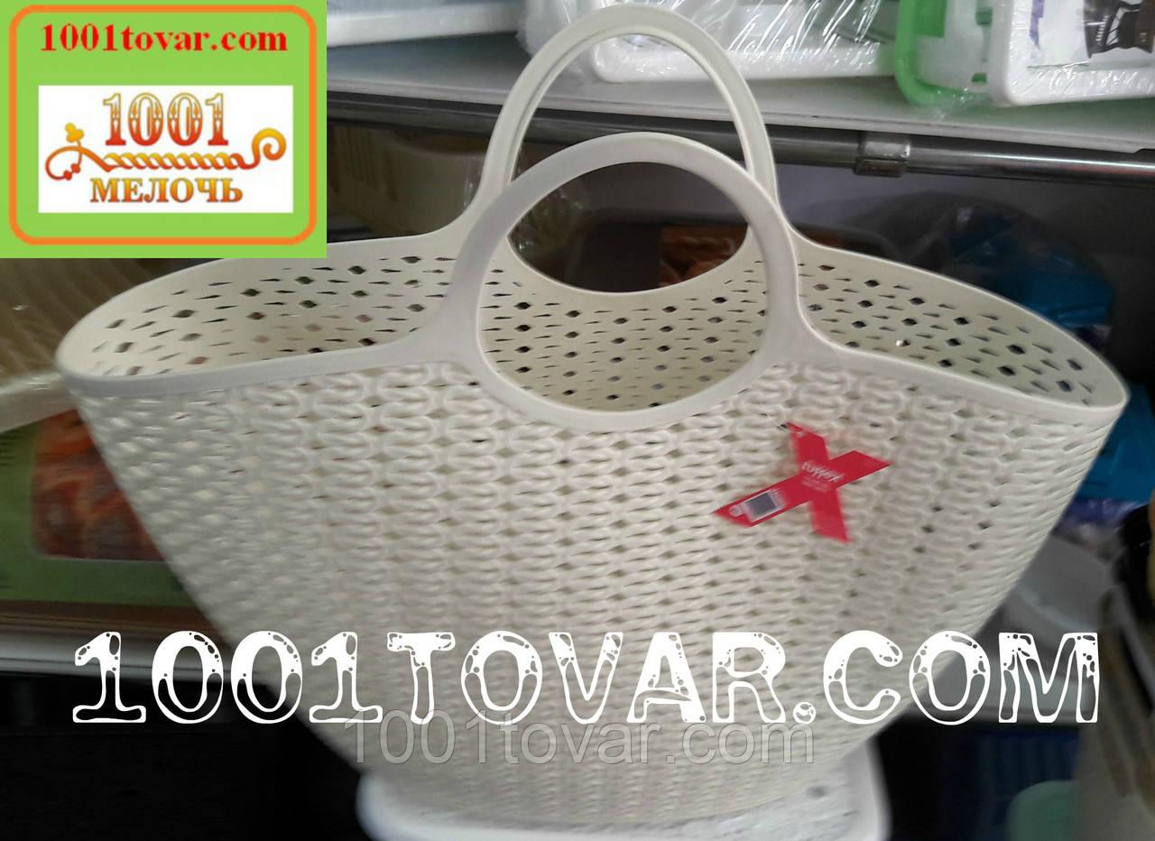 Пластиковая сумка-авоська для пикника, кофейная