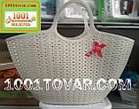 Пластиковая сумка-авоська для пикника, кофейная, фото 4