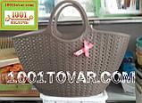 Пластиковая сумка-авоська для пикника, кофейная, фото 5