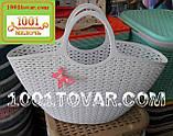 Пластиковая сумка-авоська для пикника, кофейная, фото 7